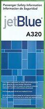 Safety Card - jetBlue - A320 - 2007 (S2845)