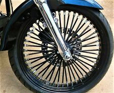 "FAT SPOKE 21"" FRONT  WHEEL BLACK 21 X 3.5 HARLEY SOFTAIL HERITAGE FAT BOY DYNA"
