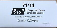 "Series 71 Galvanized Staples 3/8"" Crown x9/16"""