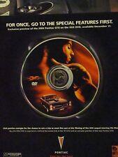 """2003 Xxx Movie Van Diesel-1967 Pontiac Gto-Original Print Ad-8.5 X 10"""""""