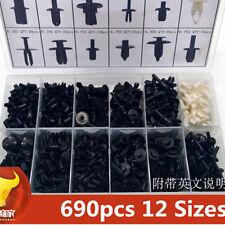 690 pcs Car Push Pin Rivet Trim Clip Panel Body Interior Moulding Assortment Kit
