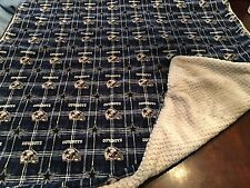 NFL Dallas cowboys Flannel/gray Minky 37x39  Baby/toddler Blanket, New, Large