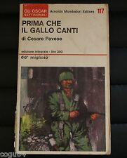Prima che il gallo canti - Cesare Pavese - Edizione Oscar Mondadori 1967