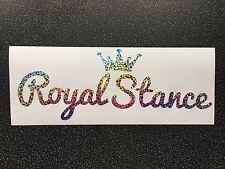 Royal Stance Vinyl Car Sticker Oil Slick Chrome Ltd Edition Glitter Sparkle
