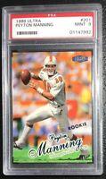 1998 Fleer Ultra Peyton Manning #201 Rookie PSA 9 Mint