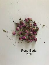 Pink Rose Buds 10g, Dried Rose Flowers, Craft, Tea, Potpourri Soap Candle