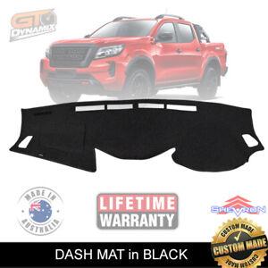 BLACK DASH MAT for Nissan Navara D23 NP300 ST-X ST SL PRO-4X 2/2021-22 DM1603
