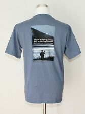 NWT THE MOUNTAIN Graphic T-Shirt ~ Fishing / Marriage License Blue / Gray  Sz.M