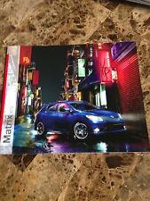 2013 Toyota Matrix 16`page Original Sales Brochure