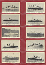 MURRAY  SONS  &  CO.  -  SET  OF  25  STEAM  SHIPS  CARDS  -  1939