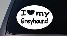 I LOVE MY GREYHOUND DOGRACING RESCUE STICKER DOG  TRUCK WINDOW STICKER DECAL
