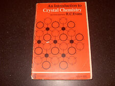 An Introduction To Crystal Chemistry By R C Evans - 1966 - As Photo