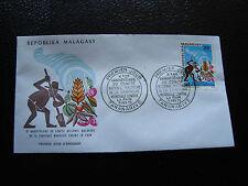 MADAGASCAR - enveloppe 6/2/73 - journee du timbre  - yt n° 515 - (cy6) (A)