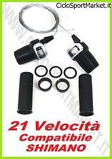 DIVISAS COMANDOS CAMBIO 21 Velocidad/7 x 3 Compatible SHIMANO+MANILLAR y CABLES