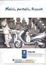 A Magazine Advertisement - Peugeot Elyseo Scooter - Peugeot Motorcycles - Elyséo