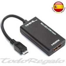 1080p MHL Micro USB a HDMI Cable Adaptador para Samsung HTC Negro M01