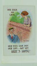 1920s Donald McGill Vintage Comic Postcard No 19 Sweethearts Romance Fashion