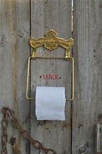 Antique solid brass ST. PANCRAS FIXTURE toilet roll holder wall mounted SBP
