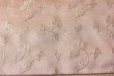 Antique French Floral Peachy Beige Lyon Silk Sample Fabric c1890~Home Dec~26X27