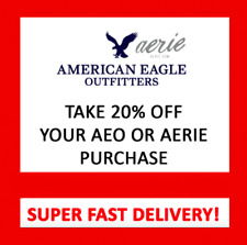 American Eagle COUPON 20% OFF Purchase - In Store & Online - Exp 11/30/20