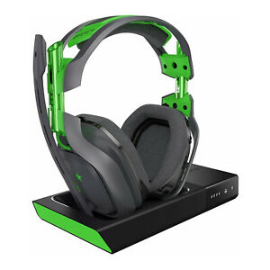 ASTRO Gaming A50 Wireless Dolby Gaming Headset Black and Green Renewed