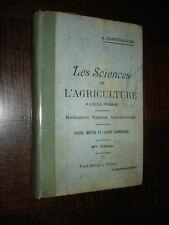 LES SCIENCES ET L'AGRICULTURE A L'ECOLE PRIMAIRE - A. Hannedouche