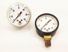 U S gauge co USG pressure gauge 0-30 0-60 psi 13082-1 13088 air gas steam 2 pcs