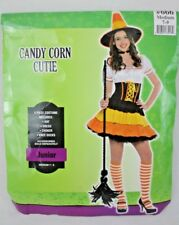 Candy Corn Cutie Ladies Juniors Halloween Costume Party Sz Medium 7-9