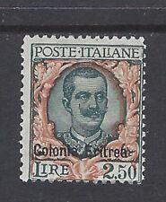COLONIE ERITREA 1928 Soprastampati 2,5L MH* (KF)