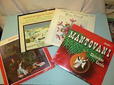 4 LP Vinyl Christmas Norman Luboff Choir Mantovani Harry Simeone Chorale Mancini