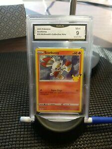 Graded Pokemon Card. Scorbunny 16/25 HOLO Ed. McDonald's Collection. Graded 9!!