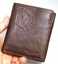 Mens Wallets Leather Purse Credit Card Holder Full Zippered Coin Pocket-MJ3082