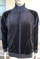 Vintage Adidas Combat Sports A.C.S. Full Zip Velour Jacket Medium 3 Stripes