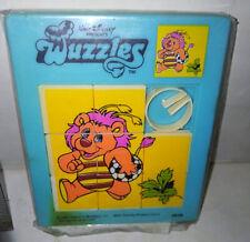 VINTAGE PLASTIC SLIDING PUZZLE WALT DISNEY WUZZLES 1985
