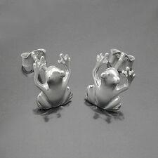 Tiermotiv Frosch Ohrstecker Laubfrosch Ohrringe Echt Silber 925 Frösche Neu