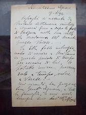 1894 CARTOLINA AUTOGRAFA ARCHITETTO MILANESE SEBASTIANO LOCATI, STILE LIBERTY