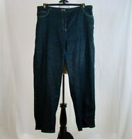 RUBY RD Women's Wide Straight Leg Elastic Inset Waist Sparkle Jeans - Size 18W