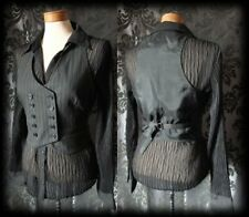 Gothic Black Fitted Double Breasted LIBERTINE Corset Waistcoat 6 8 Steampunk