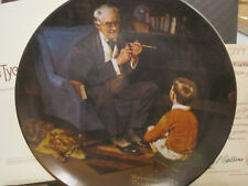$~Rockwell Heratige Collection~Tycoon Plate #6~Knowles w/Box & Coa~Lbdk4