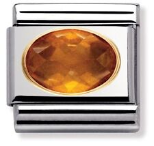 Nomination Charm Orange Oval Cubic Zirconia RRP £27