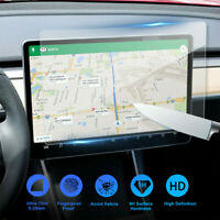 """15"""" Touch Screen Navigation Protector For Tesla Model 3 Tempered Glass Clear AU"""
