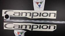 "CAMPION Boats Emblem 20"" black Epoxy Sticker Resistant to mechanical shock Vinyl"