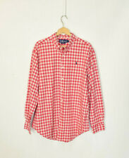 "Vintage Ralph Lauren Red Check Shirt XL 17"" Collar"
