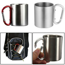 Cup Carabiner Hook Camping Mug Traveling Survival Military Outdoor Sport Silver
