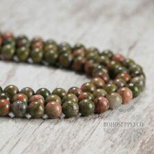 Unakite 8mm Beads Round Natural Gemstone