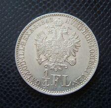 HUNGARY - AUSTRIA / SILVER 1/4 FLORIN / EXTRA! / KARLSBURG / 1862 E