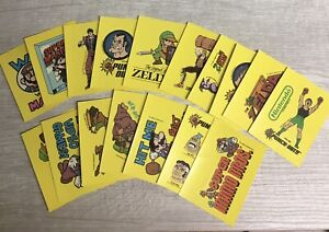 1989 NINTENDO GAME PACK STICKER TRADING CARD LOT Of 17 T