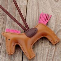 Key Chain Horse Animal Handmade Pu Leather Women Bags Charm Accessories Jewelry