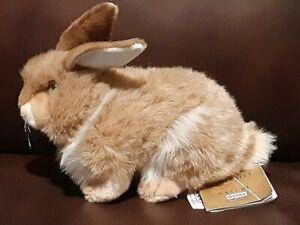 Hansa Bunny Rabbit Nature Plush Stuffed Toy Rabbit Brown Mix  2786
