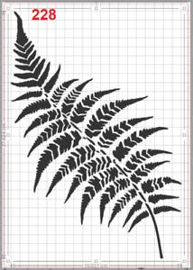 Large Fern Leaf Stencil MYLAR A4 sheet strong reusable Art Craft Wall deco